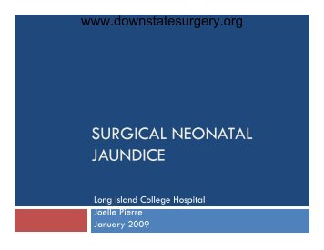SURGICAL NEONATAL JAUNDICE