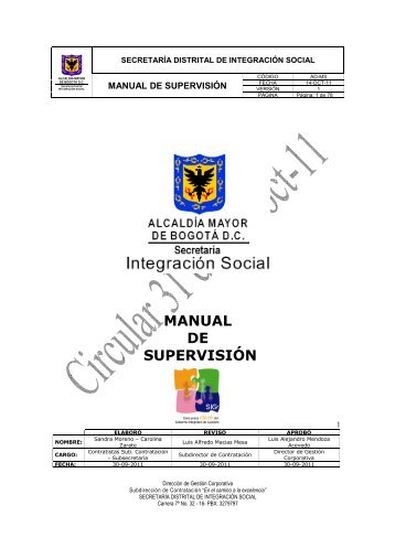 MANUAL DE SUPERVISIÓN - Página principal - Secretaria Distrital ...
