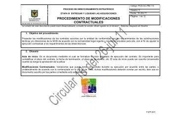 procedimiento de modificaciones contractuales - Página principal