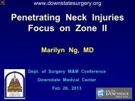 Injury - Department of Surgery at SUNY Downstate Medical Center