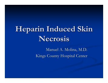 Heparin Induced Skin Necrosis