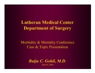 Fat Embolism Syndrome - Department of Surgery at SUNY ...