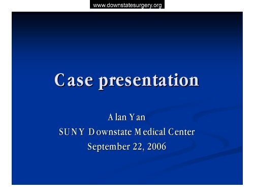 femoral artery bypass - Department of Surgery at SUNY Downstate ...