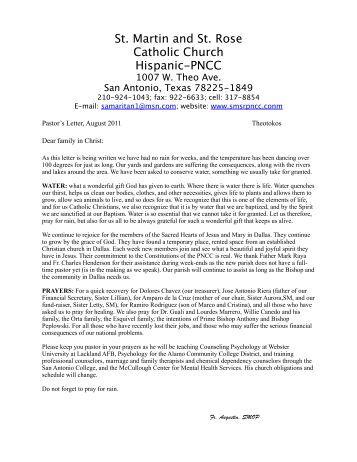 St. Martin and St. Rose Catholic Church Hispanic-PNCC