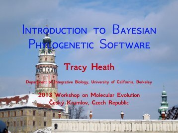 Introduction to Bayesian Phylogenetic Software