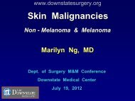Skin Cancer - Department of Surgery at SUNY Downstate Medical ...