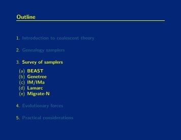Genealogy samplers