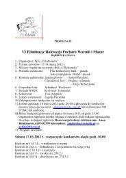 propozycje VI HPWM 2012 - Zabookuj.eu