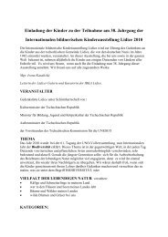 Einladung der Kinder zu der Teilnahme am 38 ... - MDVV Lidice