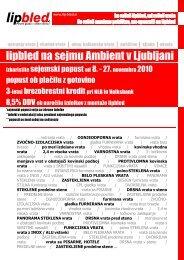 sejem pohištva AMBIENT - Lip Bled