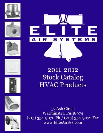 Stock Catalog 2011-2012.pub - Elite Air Systems, Inc.