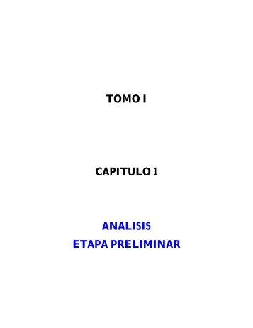 TOMO I CAPITULO 1 ANALISIS ETAPA PRELIMINAR - suaita ...