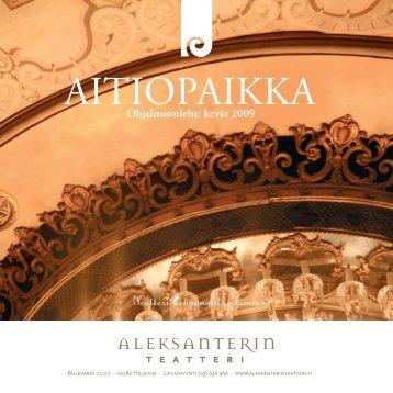 Aitiopaikka -lehti - Aleksanterin teatteri