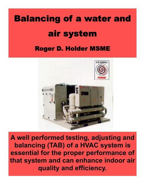 Balancing of a Water and Air System (PDF