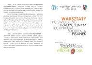 warsztaty pisanki w.cdr - Wojewódzki Dom Kultury w Rzeszowie