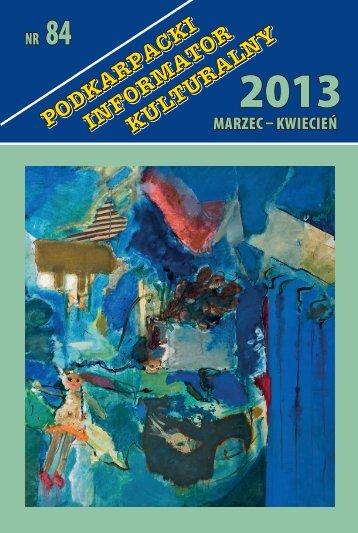 marzec – kwiecień Nr 84 - Wojewódzki Dom Kultury w Rzeszowie