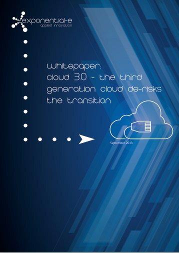 Whitepaper-Cloud 3.0 - third gen cloud-final - Exponential-e
