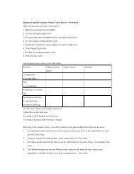 Business English Grammar Future Tenses Review- Worksheet 1 ...