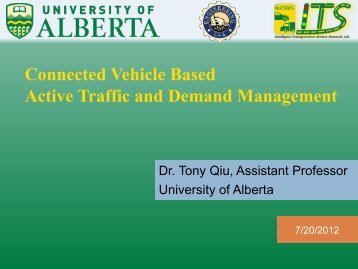Connected Vehicle Based Active Traffic and Demand ... - ICICS