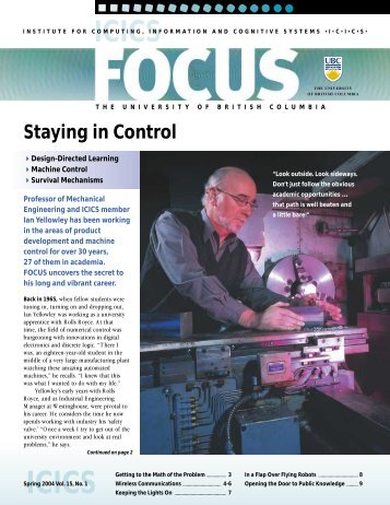 FOCUS Spring 2004 - ICICS - University of British Columbia