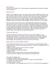 Dear Applicant! About Wizz Air! Working as cabin crew ...