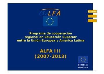 ALFA III (2007-2013)
