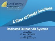 Dedicated Outdoor Air Systems - GovEnergy