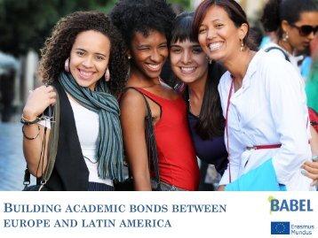 Presentación (PDF) - Relaciones y Cooperación - Universidad de la ...