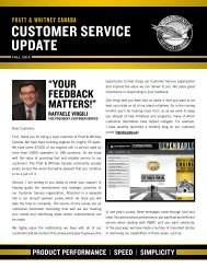 CUSTOMER SERVICE UPDATE - Pratt & Whitney Canada
