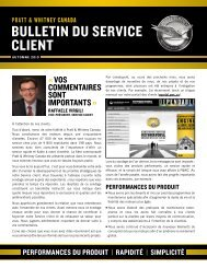 BULLETIN DU SERVICE CLIENT - Pratt & Whitney Canada