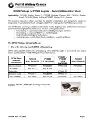 DPHM Package for PW500 Engines - Pratt & Whitney Canada