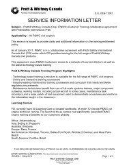 Service Information Letter (SIL), Gen-110 - Pratt & Whitney Canada