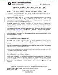 SERVICE INFORMATION LETTER - Pratt & Whitney Canada