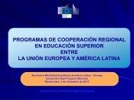 programas de cooperación regional en educación superior entre la ...