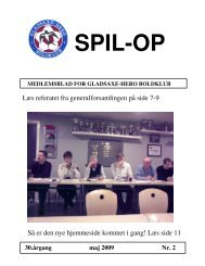 SPIL-OP - Gladsaxe-Hero Boldklub - DBU