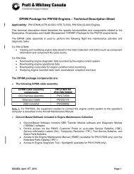 DPHM Package for PW100 Engines – Technical Description Sheet