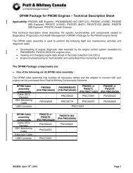 DPHM Package for PW200 Engines – Technical Description Sheet