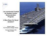 Air System Carrier Demonstration Program - Center for Strategic and ...