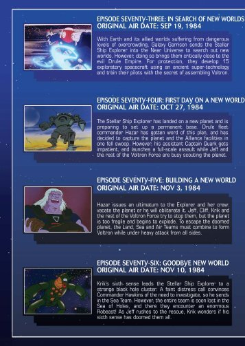 air team booklet.qxp - Voltron: The Official Website of the Voltron ...