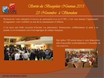 Beaujolais Nouveau 2013 - ccifc