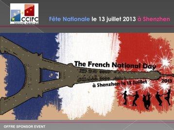 Fête Nationale le 13 juillet 2013 à Shenzhen - ccifc
