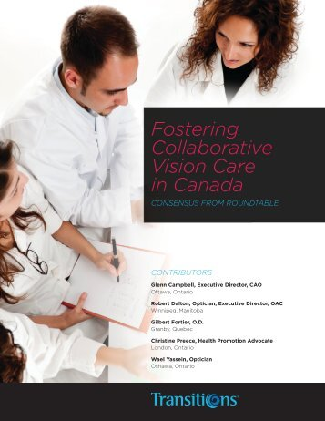 Fostering Collaborative Vision Care in Canada - Opticians ...