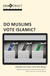 DO MUSLIMS VOTE ISLAMIC? - Democracy Project