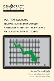 political islam and islamic parties in indonesia - Democracy Project