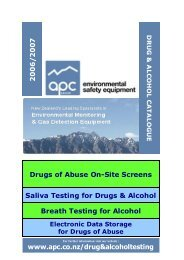 Drugs Of Abuse On-Site Screens Saliva Testing For Drugs - Apc.co.nz