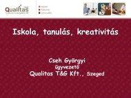 Cheh Györgyi: Iskola, Tanulás, kreativitás - szmpsz