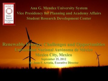 Renewable Energy: Challenges and Opportunities - Student ...