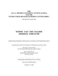 WINTER 2009 PRE-COLLEGE RESEARCH SYMPOSIUM - Student ...