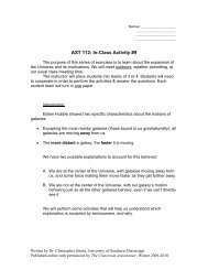 AST 112: In-Class Activity #9 - Classroom Astronomer Magazine