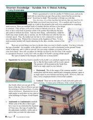Gnomon Knowledge - Classroom Astronomer Magazine